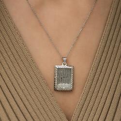 Gümüş Esma'ül Hüsna Yazılı Kolye - Thumbnail