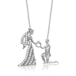Gumush - Gümüş Evlilik Teklifi Bayan Kolye