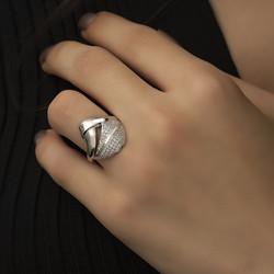 Gümüş Fantazi Model Bayan Yüzük - Thumbnail