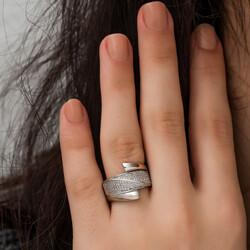 Gümüş Fantezi Bayan Yüzük - Thumbnail