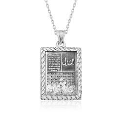 Gumush - Gümüş Fatiha Ve Esma'ül Hüsna Yazılı Kolye