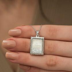 Gümüş Fatiha Ve Esma'ül Hüsna Yazılı Kolye - Thumbnail