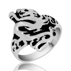 Gumush - Gümüş Flaming Dragon Erkek Yüzük