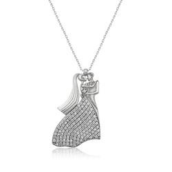 Gumush - Gümüş Gelin Damat Bayan Kolye