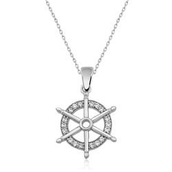 Gumush - Gümüş Gemi Dümeni Kolye