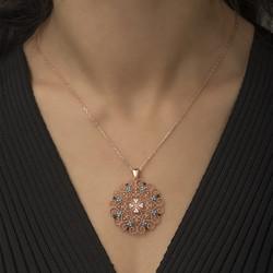 Gumush - Gümüş Etnik Desenli Madalyon Kolye (1)
