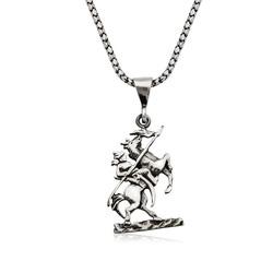 Gumush - Gümüş Göktürk Süvarisi Kolye