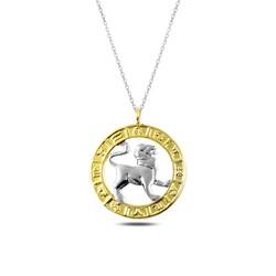 Gumush - Gümüş Gold Aslan Burcu Kolye