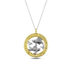 Gumush - Gümüş Gold Balık Burcu Kolye