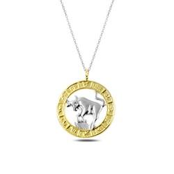 Gumush - Gümüş Gold Boğa Burcu Kolye