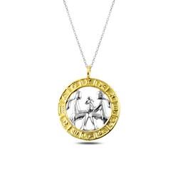 Gumush - Gümüş Gold İkizler Burcu Kolye