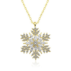 Gumush - Gümüş Gold Kar Tanesi Kolye