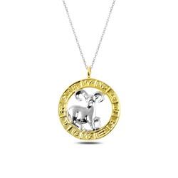 Gumush - Gümüş Gold Koç Burcu Kolye