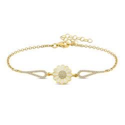 Gumush - Gümüş Gold Papatya Bileklik