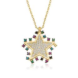 Gumush - Gümüş Gold Parlayan Yıldız Kolye