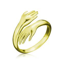 Gumush - Gümüş Gold Sarılan Eller Yüzük