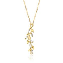Gumush - Gümüş Gold Sarmaşık Bayan Kolye