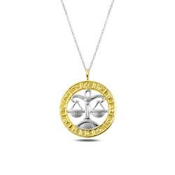 Gumush - Gümüş Gold Terazi Burcu Kolye