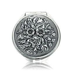 Gumush - Gümüş Gül Motifli Kapaklı Ayna