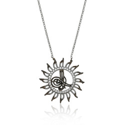 Gumush - Gümüş Tuğralı Güneş Bayan Kolye