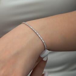 Gumush - Gümüş İnce Su Yolu Bayan Bileklik (1)