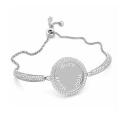 Gumush - Gümüş İsimli Kişiye Özel Taşlı Bayan Bileklik