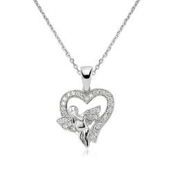 Gumush - Gümüş Melek Kalp Bayan Kolye