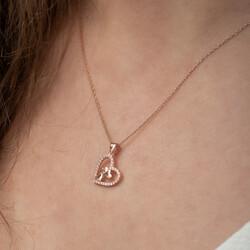 Gümüş Kalbin İçinde Üç Kalp Kolye - Thumbnail