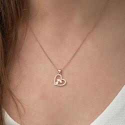 Gumush - Gümüş Kalbin İçinde Üç Kalp Kolye (1)