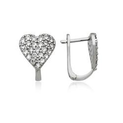 Gumush - Gümüş Kalp Küpe