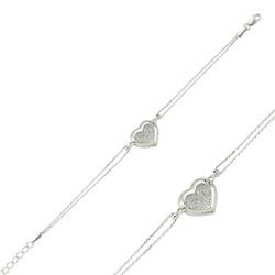 Gumush - Gümüş Kalpli Bayan Bileklik