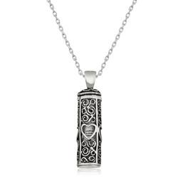 Gumush - Gümüş Kalp Desenli Cevşen-ül Kebir Kolye