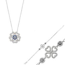 Gumush - Gümüş Kalpli Yonca Bayan Set