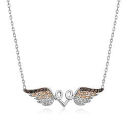Gumush - Gümüş Kanatlı Kalp Kolye