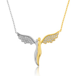 Gumush - Gümüş Kanatlı Melekler Bayan Kolye
