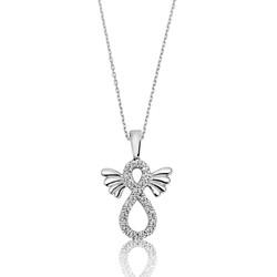 Gumush - Gümüş Kanatlı Sonsuzluk Bayan Kolye