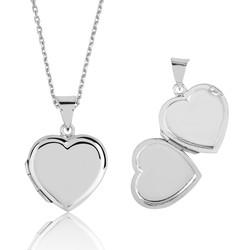 Gumush - Gümüş Kapaklı Kalp Kolye