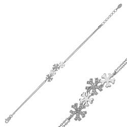 Gumush - Gümüş Kar Taneleri Bayan Bileklik
