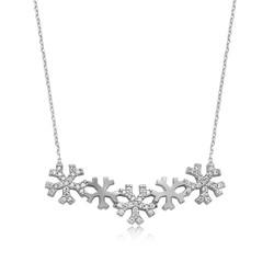 Gumush - Gümüş Kar Taneleri Bayan Kolye