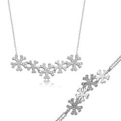 Gumush - Gümüş Kar Taneleri Bayan Set
