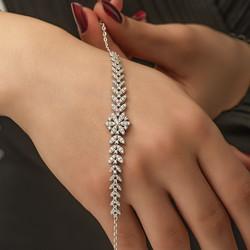 Gümüş Kar Tanesi Bayan Bileklik - Thumbnail
