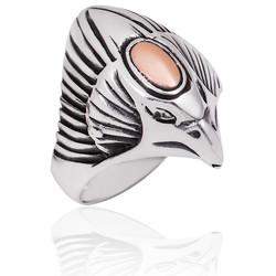 Gumush - Gümüş Kartal Kafası Erkek Yüzük
