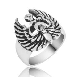 Gumush - Gümüş Kartal Kanadı Erkek Yüzük
