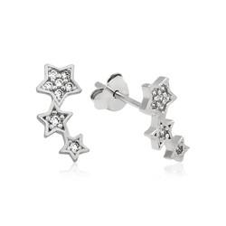 Gumush - Gümüş Kayan Yıldız Çivili Küpe