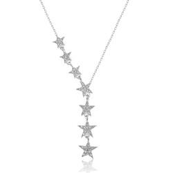 Gumush - Gümüş Kayan Yıldızlar Bayan Kolye