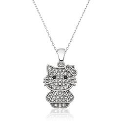 Gumush - Gümüş Kedi Bayan Kolye