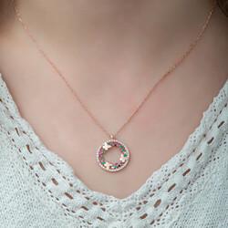Gümüş Kelebek Vadisi Bayan Kolye - Thumbnail