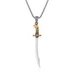 Gumush - Gümüş Kılıç Erkek Kolye