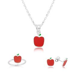Gumush - Gümüş Kırmızı Elma Çocuk Set
