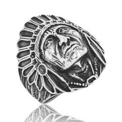 Gumush - Gümüş Kızılderili Erkek Yüzük